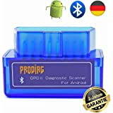 PRODIAG Mini BPRODIAG Mini Bluetooth OBD2 OBDII EOBD Scanner Adapter Automotive Check Engine Licht Diagnose Code Reader für Android