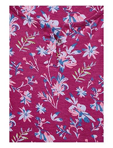 Cecil Maglietta a Maniche Lunghe Donna Mehrfarbig (Magic Pink 31277)