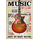 """Póster """"Music is passion/La música es pasión"""" (61cm x 91,5cm) + embalaje de regalo"""