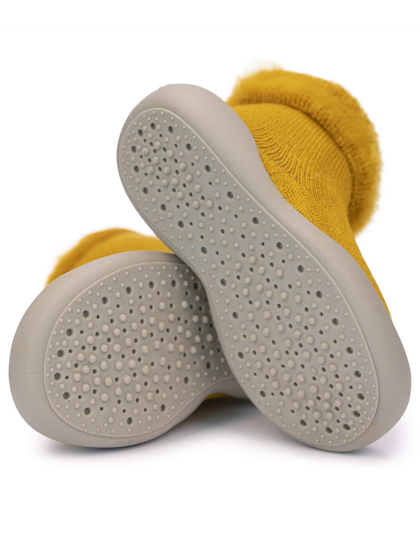 Adorel Zapatos Antideslizantes Calcetines Invierno para Bebé 3