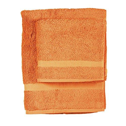 Asciugamano e ospite COGAL in spugna 650 grammi colore ARANCIONE 050