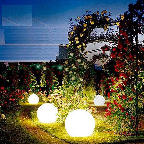 35CM ha condotto la lampada da terra per esterni ricaricabile piscina a distanza le luci del giardino luminoso palla luci palla lampada prato