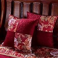 Cojines de sofá de estilo europeo Cama de almohada lumbar Cojines de asiento de oficina-F 40x40cm(16x16inch)