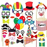 36Pcs Circus Party Decoration Photo Booth DIY Kit Funny Clown by Trimming Shop