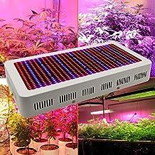 Derlight® - Lámpara de alta energía LED para invernadero, con luz IR y UV para plantas, flores y verduras, aluminio, Weiß, 600 W 600.00 watts