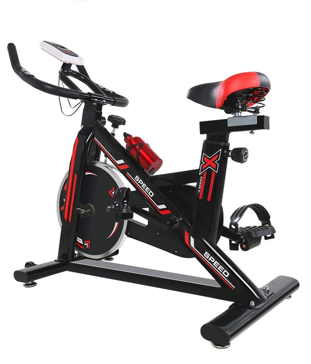 61fykFT2CnL - YHSport Indoor Cycling Exercise Bike, F-Bike Home Trainer Flywheel Adjustable Magnetic Resistance, 2-Piece Crank, 5-Function Monitor, Emergency Stop System, Ergonomic Fully Adjustable Seat