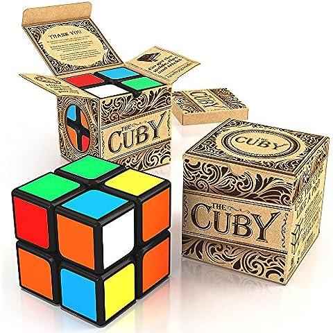 Cuby: El Cubo Juego de que agiliza tu cerebro; Súper-duradero con Colores Vívidos; Rápido Mejor Vendido 2x2 Cube; ¡100% Garantía de Devolución del