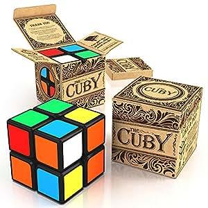 Cuby; Rompicapo 2x2 Cube di per allenare la mente; Super resistente; colori ultra brillanti; migliore cubo di velocità seller; Rimborso 100% garantito!