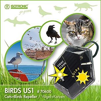 isotronic solar vogelabwehr ultraschall vogelvertreiber. Black Bedroom Furniture Sets. Home Design Ideas