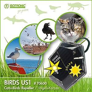 isotronic solar vogelabwehr ultraschall vogelvertreiber vogelschreck taubenabwehr taubenschutz. Black Bedroom Furniture Sets. Home Design Ideas