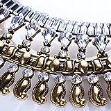 QIYUN.Z Barock Vintage Retro-Stil Facettierten Strass Girlande Kronleuchter Bib Halskette Frauen Charms Halskette Anhänger Halsketten Reifen Modische Ketten