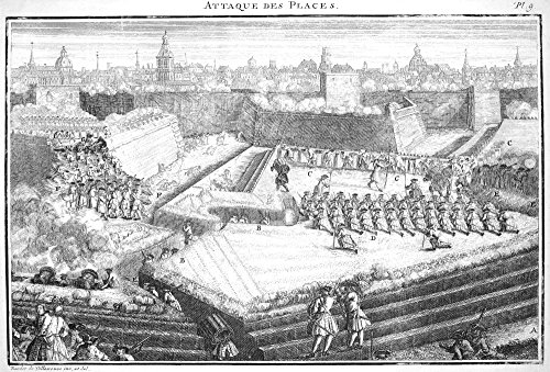 The Poster Corp Warfare: Siege. /N'Attaque des Places:' An 18Th Century Siege. Copper Engraving French 18Th Century. Kunstdruck (60,96 x 91,44 cm) 18th Century Place