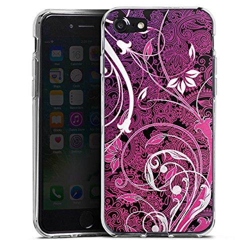 Apple iPhone X Silikon Hülle Case Schutzhülle Floral Ornament Blumen Silikon Case transparent