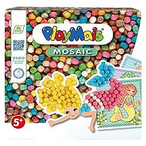PlayMais 160444 - Mosaico Craft Kit, El sueño de la Sirena, Colorido