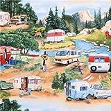 Wohnwagen Natur Camping Stoff Vintage Trailers Elizabeth's