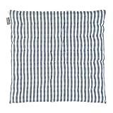 Linum Steppkissen Sitzkissen gesteppt Stuhlkissen Osby Karo blau grau kariert Karomuster 100% Baumwolle Design by Petra Carlsten eygun ca, 40*40*3 cm groß !!! Neuheit Kollektion Spring Summer 2013 !!!