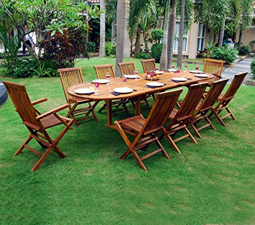Tavolo con sedie da giardino, misura grande,