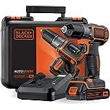 Black+Decker Autosense ASD18K Accuschroefboormachine met Autoselect-technologie en led-werklamp voor boren in hout en metaal