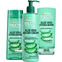 Garnier Fructis Aloe Vera Hydra Bomb Kit con Shampoo, Balsamo e Trattamento senza Risciacquo, Capelli Normali