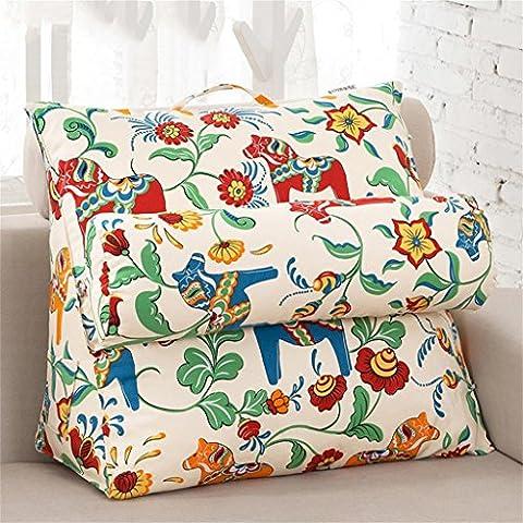 Triangolo Grande schienale cuscino divano letto cuscinetto lombare del rilievo Cozy godere regolabile È possibile estraibile e lavabile una varietà di modelli ( colore : #12 , dimensioni : 57*47*27cm )