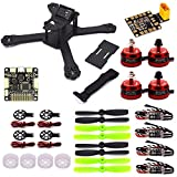 LHI X210 Carbon Fiber FPV Race Quadcopter Frame (4MM) +DX2205 2300KV Brushless Motor+ Littlebee 20A Mini ESC+F3 Flight Controller Board Cleaflight 6DOF+LED Board+Motor Guard Protector Caps thumbnail