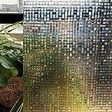 Zoostliss 3D-Mosaik-Fensterfolie, stationäre Dekoration, nicht klebende Folie, Hitzeregelung, UV-Schutz, 45 x 200 cm