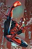 Poster Spiderman Comic - Web Slinger (61cm x 91,5cm) + 2 tringles transparentes avec suspension
