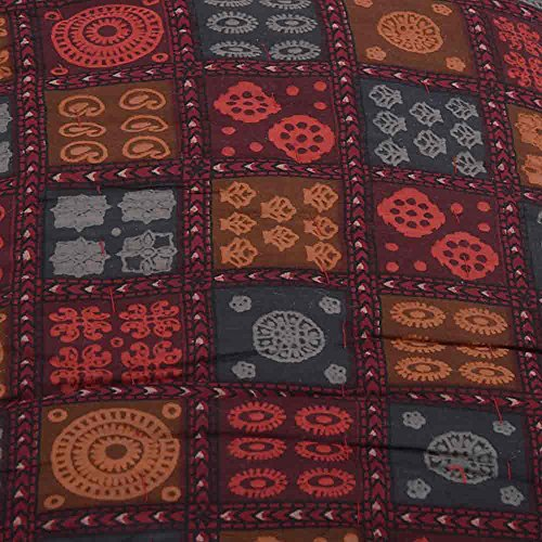 Little India Sanganeri Gold Floral Print Cotton Single Bed Quilt - Multicolor (DLI3SRZ112)