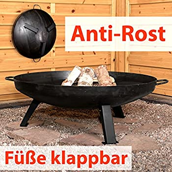 femor feuerstelle mit grillrost 81x81x45cm multifunktional fire pit f r heizung bbq garten. Black Bedroom Furniture Sets. Home Design Ideas