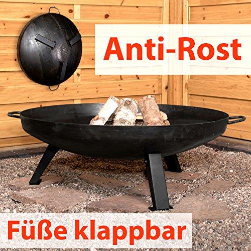 feurschale Köhko Feuerschale Ø 79 cm - Beine Anti-Rost lackiert - klappbare und abnehmbare Beine 41005