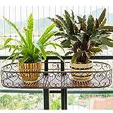 Willsego Pflanzenständer Eisen Armlehne Blumenständer Balkongeländer Hängepflanze Blumenständer Wand Topf Rack Hanger (Farbe : -, Größe : 100 cm)