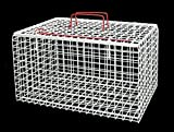 Premium Wire Cat Carrier Basket (White)