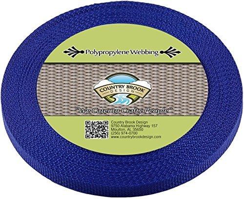 Country Brook Design 1/5,1cm Royal Blau beschleunigungskraft Gurtband, 25Meter -