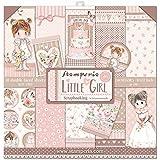 """Stamperia SBBL67 Bloc Papier Scrap Double Face 10 Feuilles 30,5x30,5 (12""""x12"""") -Little Girl, Multicolore, 5cm"""