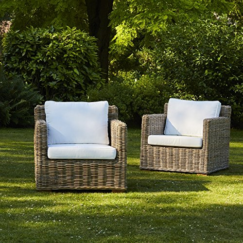 Bois Dessus Bois Dessous Lot de 2 fauteuils en kubu Naturel