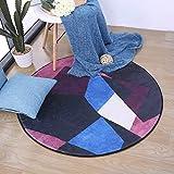 GXQ Nordic Super Soft Runde Teppich Schlafzimmer Hängenden Korb Rattan Stuhl Kissen Wohnzimmer Couchtisch Zimmer Nacht Bettdecke (Farbe : C, Größe : 120cm(47inch))