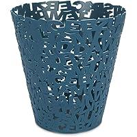 Balvi Corbeille à Papier Letters Couleur Bleu Corbeille à Papier Design Original en Lettres Idéal pour Le Bureau, la…