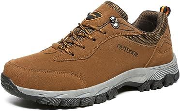 NEOKER Wanderschuhe Trekking Schuhe Herren Damen Sports Outdoor Hiking Sneaker Armee Grün Blau Schwarz Grau 36-48
