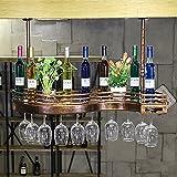 HT BEI Edelstahl Bronze Europäischen Kreative Rotwein Glashalter Größe: 60 * 23 * 12 cm, 80 * 25 * 12 cm, 100 * 30 * 12 cm | (Größe : 80cm)