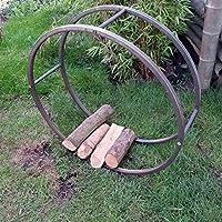 Chimenea Soporte de madera, leña, madera cesta, rodamiento de madera