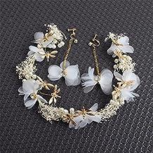 Weddwith Pelo Adornos Estilo coreano novia de la muchacha del bosque tocado  pañuelo de flores llenas secas vestido de novia de la flor vestido de boda  del ... b3e85facae93
