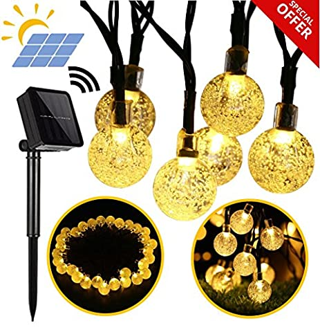 Primium Solar String Lights, Wasserdichte Outdoor Kugel-, 20ft 30 LED
