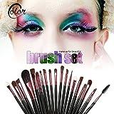 Valoxin(TM) Cepillos del maquillaje 20PCS del kit del sistema de herramientas Foundaton rimel del labio del sombreador de ojos cepillos para las cejas Maquillaje juego de brochas Styling Pincel De Maquiagem