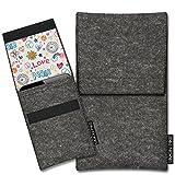 SIMON PIKE Sony Xperia Z5 Filztasche NewYork in anthrazit 9, handgefertigte Smartphone Filz Tasche aus echtem Wollfilz