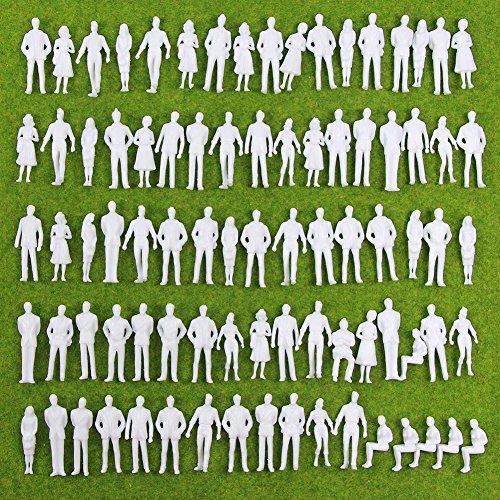 Evemodel Neu 100 × Figuren nicht lackiert Spur 0 35mm -