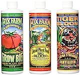Fox Farm Liquid Nutrient Trio Soil Formula - Big Bloom, Grow Big, Tiger Bloom Pint Size (Pack of 3)