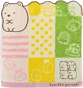 100/% Cotone San-X Asciugamano Sumikko Gurashi in Cotone 25x25cm Sumikko Gurashi Characters Flowers CM21201 Asciugamano Tascabile Colori Pastello