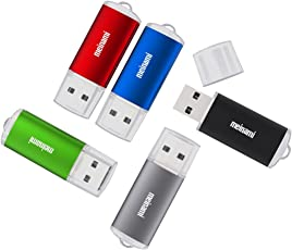 Meinami USB-Stick, 512 MB/1 GB/8 G/16 G/32 GB, bunt, USB 2.0, 5er-Pack 5colors-cap2 32 GB
