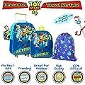 Disney Toy Story 4 Mochilas Escolares Juveniles con Forky, Woody, Buzz Y Bo Peep   Mochila De Cuerda Infantil   Bolsa De Viaje para Niños   Mochila Pequeña Niños   Juego De Viaje De 3 Piezas