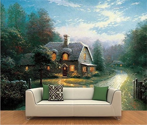Yosot 3D Tapeten Individuelle Fototapete Wohnzimmer Wandbild Thomas Ländliche Landschaft Öl Malerei Sofa Hintergrundbild Für 3D-Wand-450Cmx300Cm -